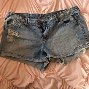 3 for $12 Rue 21 distressed jean shorts